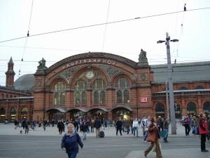 ドイツ ブレーメン中央駅.CIKMでOさんと.