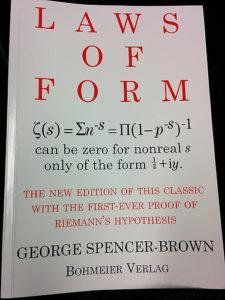Spencer-Brownの名著.小野先生に教えてもらった.